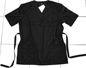 Womens Medical Nursing Scrubs Top Uniform Black M L XL