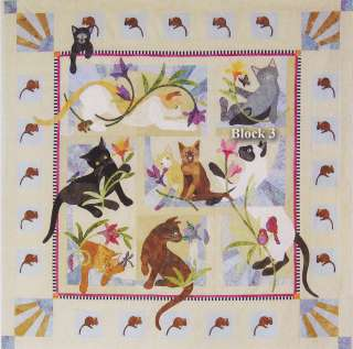 Java House Quilts: Cat Acatemy Acatamy BOM Quilt Pattern 8 block set