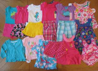 Huge NEW 12 month Girl Spring Summer clothes LOT separates Swimsuit PJ