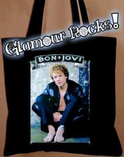 JON BON JOVI RHINESTONE BLACK BAG PURSE TOTE DIY