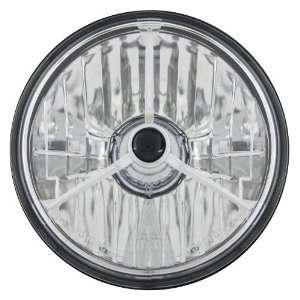 T50304 5 3/4 Diamond Cut Trillient Black Dot Tri Bar Motorcycle
