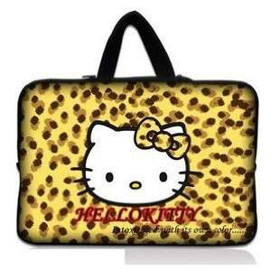 14 Cheetah Pattern Hello Kitty Style Laptop Case/Bag(with