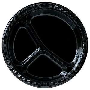 By Creative Converting Black Velvet (Black) Plastic Divided Plates