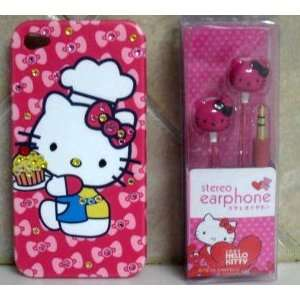 HELLO KITTY IPHONE CASE IPHONE 4G CASE W/ EARBUDS SET