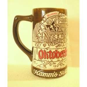 Hamms Beer Stein Salutes Oktoberfest 1973[ Ceramic]