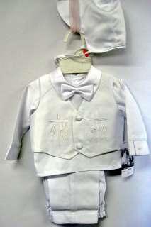 Baby Boy Communion Christening Baptism Outfit Suit Set size XS S M L