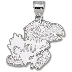 University of Kansas Jayhawk Giant Pendant (Silver