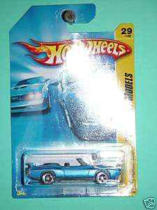 Hot Wheels 70 Pontiac GTO Blue 2008 New Models 29/40