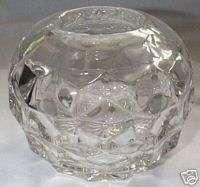 FOSTORIA AMERICAN CRYSTAL 3 1/2 DIAMETER ROSE BOWL