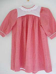 Girls Lavender Blue Dress Red And White Enbroide 4T