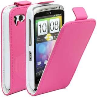 London Magic Store   HOT PINK FLIP LEATHER CASE COVER FOR HTC DESIRE S