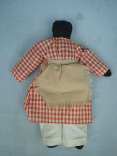 Vintage 9 Black Cloth Doll With Original Clothing