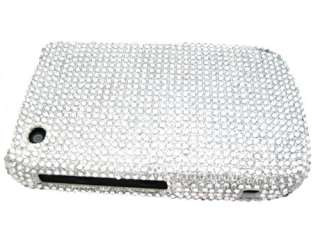 CASE COVER BLACKBERRY CURVE 8520 8530 SILVER WHITE CRYSTAL