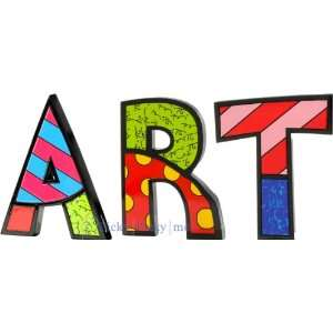 ART Word Art for Table Top or Wall by Romero Britto