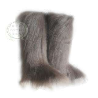 NEW ESKIMO LONG FAUX FUR FURRY YETI BOOTS WINTER SNOW 3 COLOR