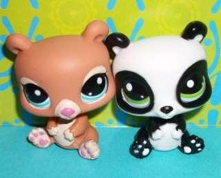 LPS BLYTHE BEAR FRIENDS #2110 Brown #2329 Black/White~Littlest Pet