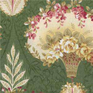 Pandolph Bowood House Green Floral Shabby Rose Fabric Christmas 0068 2