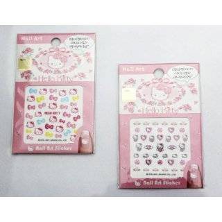 Hello Kitty Nail Art Sticker   5 pack Mixed Design Beauty