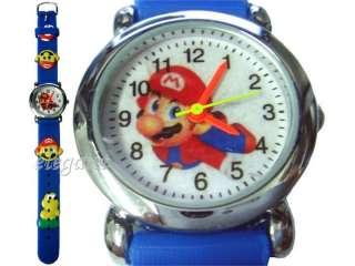 Nintendo Super Mario Brothers 3D Kids Blue Wrist Watch