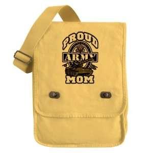 Messenger Field Bag Yellow Proud Army Mom Tank