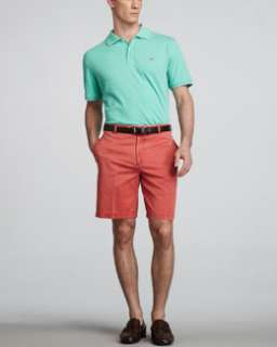 3PMW Peter Millar Signature Pique Knit Polo & Washed Twill Shorts