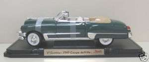 1949 Cadillac Coupe deVille Diecast Model Car 1:18Green