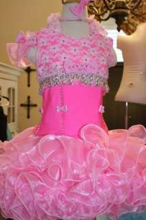 Ready to SHIP National Pageant Dress Glitz Girls Size 5 to 6, Slim 7