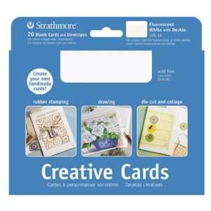 Strathmore Blank Greeting Cards with Envelopes fluorescent