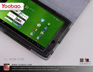 Slim Genuine Leather Stand Case Cover for Acer Iconia Tab 7 inch A100