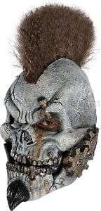 Motormouth Gear Head Mohawk Skull 3/4 Vinyl Child Mask