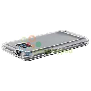 Clear Crystal+Blue+Purple Hard Case+Privacy SP For Samsung Galaxy S II