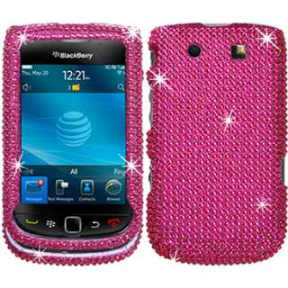 BLING HARD CASE COVER BLACKBERRY TORCH 9800 9810 FACEPLATE PINK