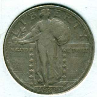 1929 S STANDING LIBERTY QUARTER   XF+
