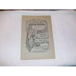 House Grand Opera Libretto La Traviata Book by F. M. Piave Books
