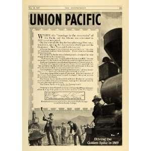 1917 Ad Marriage Mountain 1869 Union Pacific Railroad