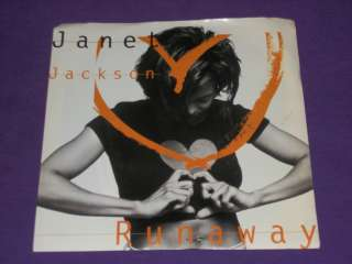 Janet Jackson Runaway   When I Think Of You Rare 7 Vinyl 45 & Picture