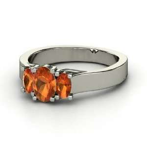 Ramona Ring, Oval Fire Opal Sterling Silver Ring Jewelry