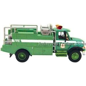 Boley HO Scale International 7000 2 Axle Brush Fire Truck   Green
