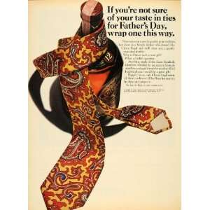 1965 Ad General Wine Spirits 12 Years Old Whisky Ties