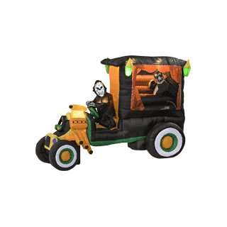 Inflatable Halloween Animated Hot Rod Hearse Patio, Lawn & Garden