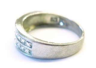 Sterling Silver Textured Designed Fashion Band Ring ~ Size 7.75