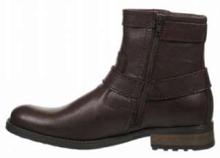 STEVE MADDEN Mens Leather Ankle Boots, Black & Brown