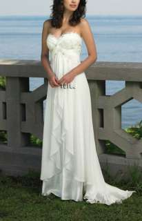 Sexy Beach White/Ivory Strapless Prom/Wedding Dress