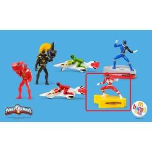 Disney Power Rangers Red Ranger Pog Launcher Toy #6