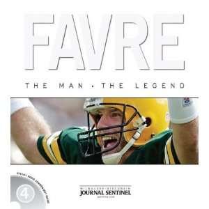 Brett Favre The Man. The Legend Hardcover Book Sports