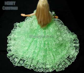 Handmade Dresses Fashion Party Clothes For Barbie Doll J401