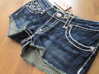LA Idol Mini Dark Blue Cutoff Shorts Size S M L