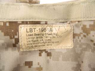 1961A AOR1 Chest Rig Vest DOM 2010 Navy SEAL Load Bearing 1961