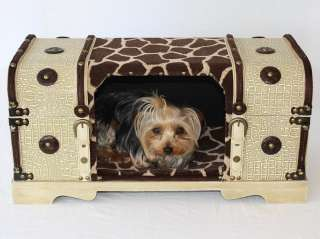 Luxury stylish Designer Hide A Bed & Dog cat carrier Pet travel Crate