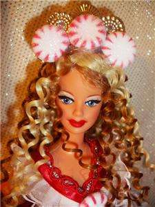 Peppermint ~barbie doll ooak holiday sweetheart candy ringlets